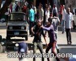 إصابات شديدة لـ 12 حالة في اشتباكات ميدان التحرير ظهر اليوم