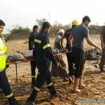 """طائرتان تنقذان 26 شخصاً علقوا في """"ثلوج اللوز"""" بتبوك"""