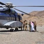 العثور على الشابين التائهين بصحراء المدينة من خلال الطيران العامودي