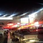 مدني عفيف يتمكن من اخماد حريق على المدخل الشرقي في اعمدة كهرباء