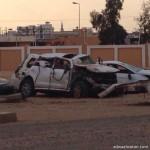 """وفاة وإصابة شخصَين في حادث تصادم على طريق الزيته الشرف بـ """"تبوك"""""""