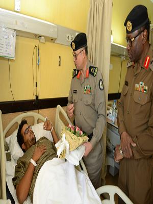 «بالصور» مستشفى الملك فهد يستقبل مدير الشرطة ومدير المرور بالباحة