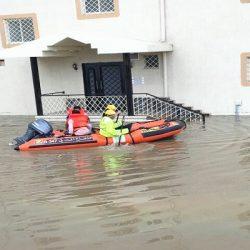 أمطار غزيرة وسيول على الطائف دون وقوع أضرار بشرية