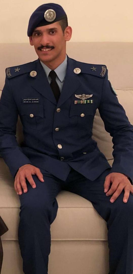 السبيعي برتبة ملازم طيار من كلية الملك فيصل الجوية أضواء الوطن