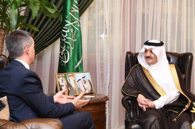 الأمير سعود بن نايف يستقبل سفير جمهورية البرازيل الاتحادية لدى المملكة