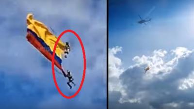 عسكريان  يلقيان مصرعهما في عرض جوي أمام الملأ بكولومبيا