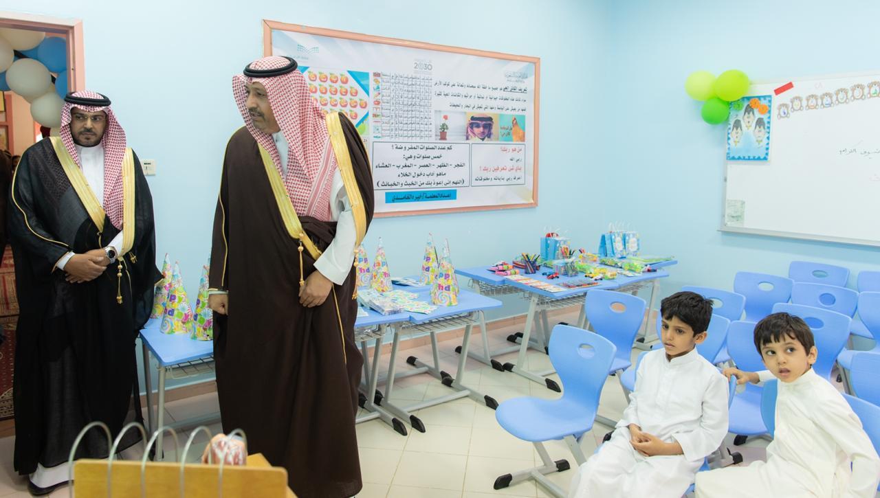 أمير منطقة الباحة يدشن مدارس الطفولة المبكرة بابتدائية فاطمة بنت الوليد أضواء الوطن