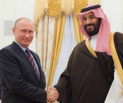 """""""ولي العهد والرئيس الروسي"""" يبحثان مستجدات سوريا واليمن ومكافحة الإرهاب"""