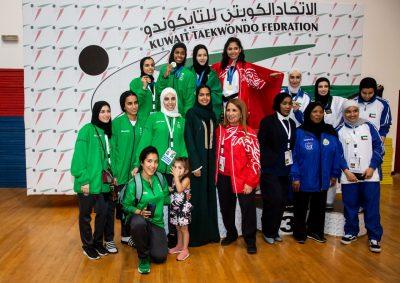 نساءأخضر التايكوندو وصيف الخليج