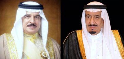 """""""خادم الحرمين الشريفين"""" يتلقىاتصالاً هاتفياً من ملك البحرين"""