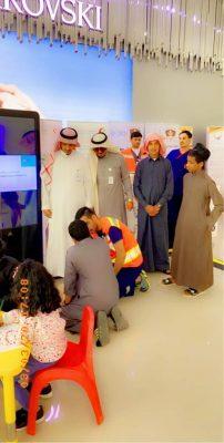 """دار التوجيه الاجتماعي بـ""""بريدة"""" ينفذ زيارة لفعاليات اليوم العالمي للدفاع المدني"""