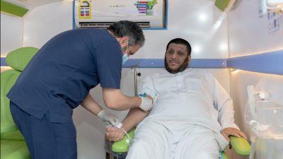 """انطلاق  مبادرة جامعة المجمعة  """"تبرع بلا تجمع"""" لتغطية احتياجات بنوك الدم"""