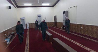 بدء تعقيم وتنظيف الجوامع والمساجد بمحافظة الحائط