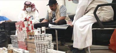 """"""" بلدية الرس """" تضبط منتجات """" تبغ """" غير مطابقة للمواصفات السعودية"""