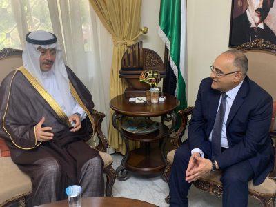 """""""سفير المملكة لدى الأردن"""" يلتقي """"وزير الثقافة الأردني"""""""