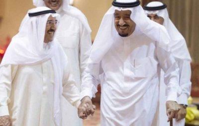 خادم الحرمين الشريفين يجري اتصالاً هاتفياً بأمير دولة الكويت للاطمئنان على صحته