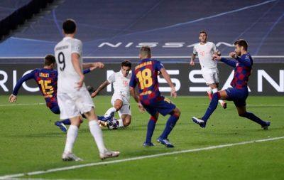 """بـ """"8"""" أهداف البايرن يُضحِك العالم على برشلونة!!"""