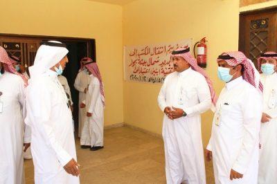 """""""الشهراني"""" يتابع ميدانياً تطبيق قرار توطين المهن في منافذ البيع لـ """"9"""" أنشطة اقتصادية"""