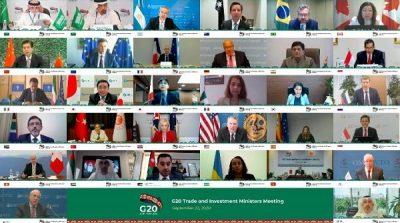 برئاسة المملكة العربية السعودية.. وزراء التجارة في مجموعة العشرين يؤكدون دعم انتعاش التجارة والاستثمار الدولي