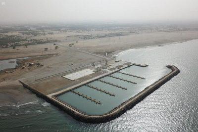 """""""السعودية للكهرباء"""" تنشئ أحدث مرفأ للصيد في الشقيق يستوعب 120 قارباً ضمن مسؤوليتها الاجتماعية"""