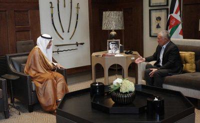 ملك الأردن يستقبل سفير خادم الحرمين الشريفين