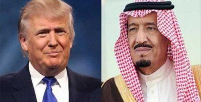 """""""الملك سلمان"""" يبعث برقية للرئيس ترامب للاطمئنان على صحته"""
