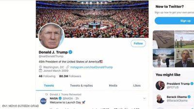 """""""المادة 230"""" تلاحق ترامب على تويتر"""