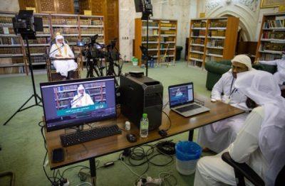 """استوديو المسجد الحرام يسجل """"80"""" درساً خلال جائحة كورونا"""