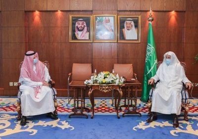 وزير الشؤون الإسلامية يستقبل السفير السعودي المعين لدى البوسنة