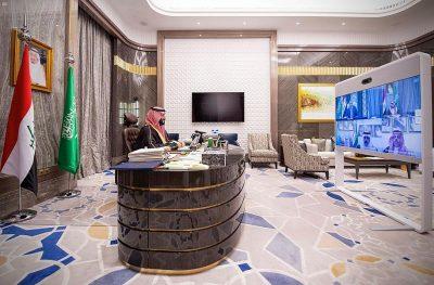 البيان المشترك لاجتماع سمو ولي العهد ودولة رئيس وزراء جمهورية العراق واعتماد نتائج الدورة الرابعة لمجلس التنسيق السعودي العراقي