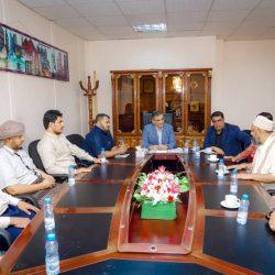 """""""لملس"""" يطّلع على خطة عمل مشروع تطوير ميناء عدن"""