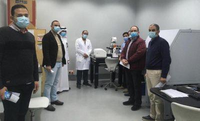 """المختبر المركزي بجامعة الجوف يختتم دورة تدريبية على جهاز المجهر البؤري """"Confocal"""""""