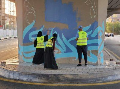 تجميل جسور جدة بأعمال الموهوبين في الخط العربي