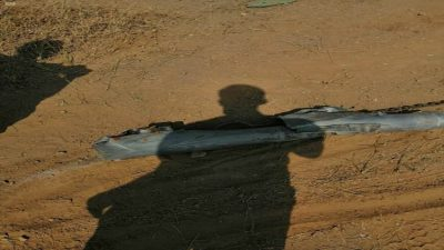 سقوط مقذوف عسكري بالقرب من مستشفى الحرث أطلقته ميليشيا الحوثي الإرهابية