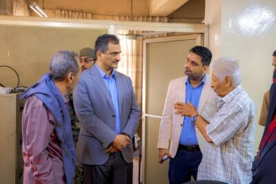 """""""لملس"""" يزور فندق عدن ويتفقد أوضاع مكتبي الثقافة والإعلام"""