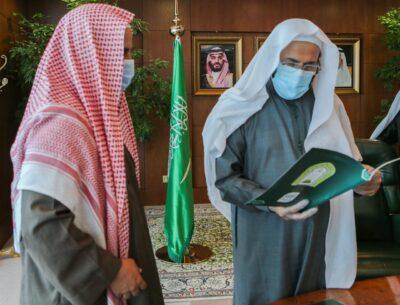 وزير الشؤون الإسلامية يدشن البوابة الالكترونية لفرع الوزارة بمنطقة الحدود الشمالية