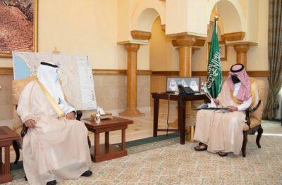 نائب أمير منطقة مكة المكرمة يستقبل مدير الشؤون الصحية بجدة