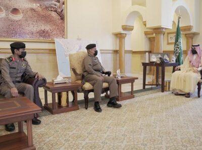 سمو أمير منطقة مكة المكرمة ونائبه يستقبلان مدير شرطة المنطقة