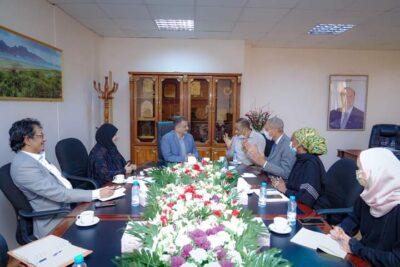 لملس يبحث مع المدير القطري لـ«برنامج الأغذية العالمي» القضايا المتعلقة بتدخلات البرنامج بعدن