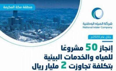 تنفيذ 50 مشروعاً للمياه والبيئة في مكة المكرمة