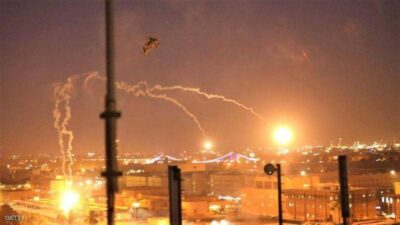 هجوم صاروخي قرب مطار بغداد.. والهدف يبدو قوات أميركية