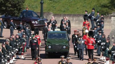الأمير هاري يشارك في جنازة جده دون زوجته ميغان