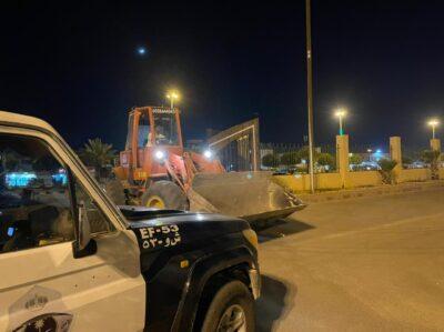 ضبط معدات نهل الرمال المخالفة في حفرالباطن