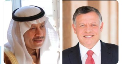 سفير المملكة لدى الأردن يعزي الملك عبدالله الثاني وولي عهده بوفاة الأمير محمد بن طلال