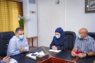 """لملس"""" يطلع على جهود منظمة أطباء بلا حدود الفرنسية في دعم وتعزيز الجهود الصحية لمواجهة الموجة الثانية لكورونا"""