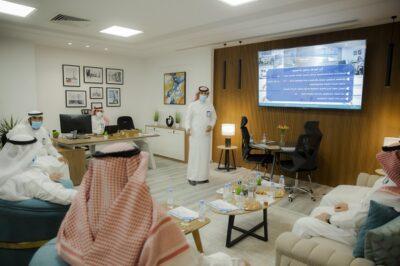 رئيس جامعة القصيم يُدشن نظام إدارة الأصول بالإدارة العامة للصيانة والخدمات