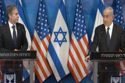 """نتانياهو يحذر حماس.. وبلينكن يتعهد بإغاثة غزة بـ""""شرط"""""""