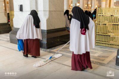 """تعقيم المصليات النسائية """"85"""" مرة ليلة ختم القرآن الكريم"""