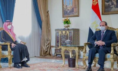 الرئيس المصري يستقبل سمو وزير الرياضة