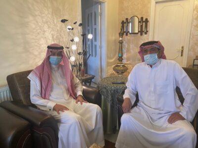 سفير المملكة لدى الأردن يزور الإعلامي غالب كامل